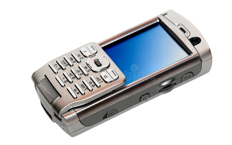 Cellphone. Image on the white background royalty free stock image