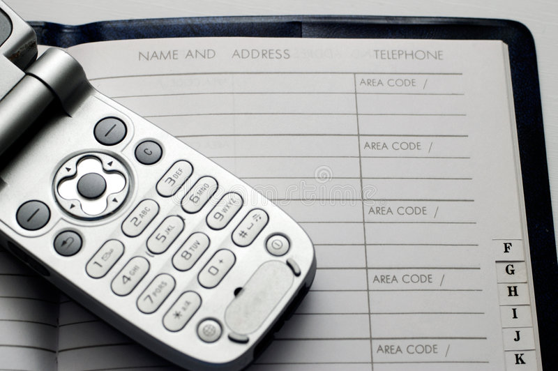 cellphone and address book stock photo  image of planner