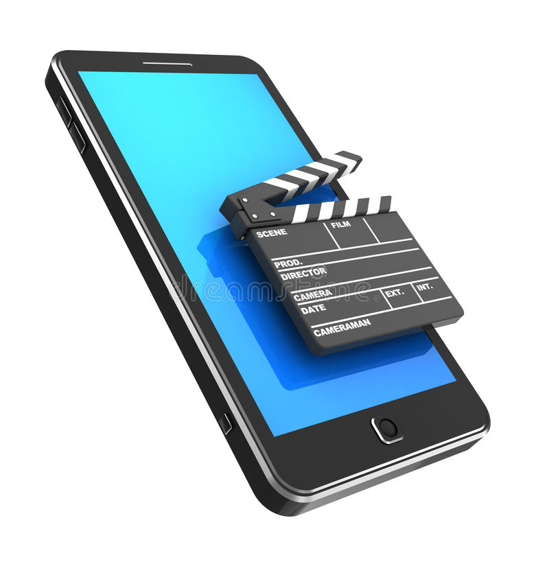 Download Cellphone With Clapper Stock Image - Image: 27044301