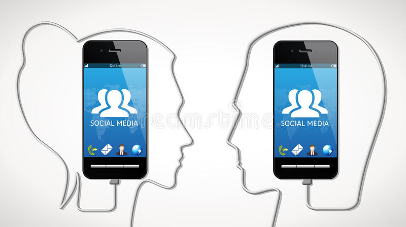 Cellphone - communication concept royalty free stock photography