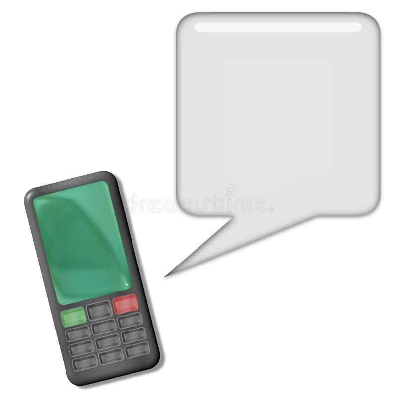 Download Cellphone Conversation stock illustration. Illustration of buzz - 8346177