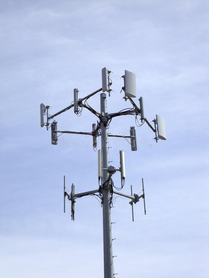 Cellphone Data Communication tower royalty free stock photo