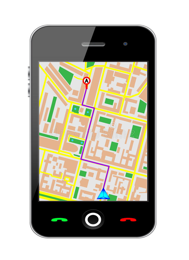 Download Cellphone gps stock vector. Image of icon, assistant - 23650388