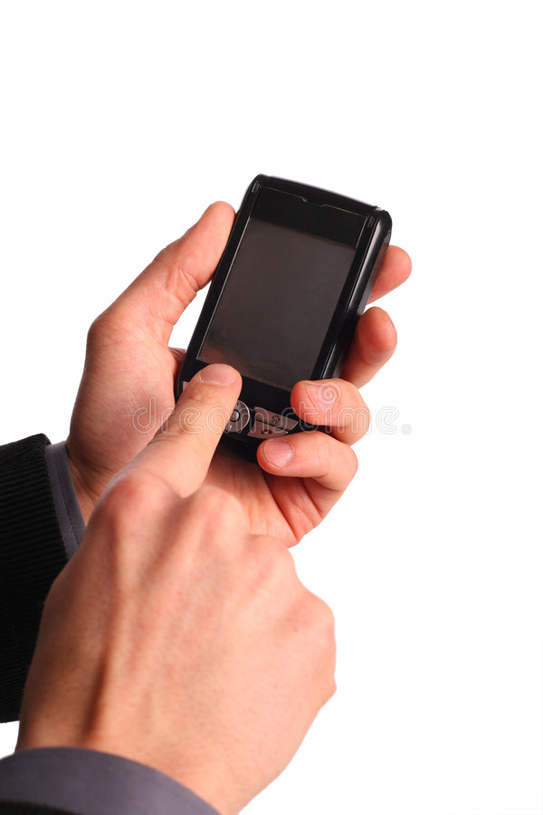 Cellphone In Hands Royalty Free Stock Image