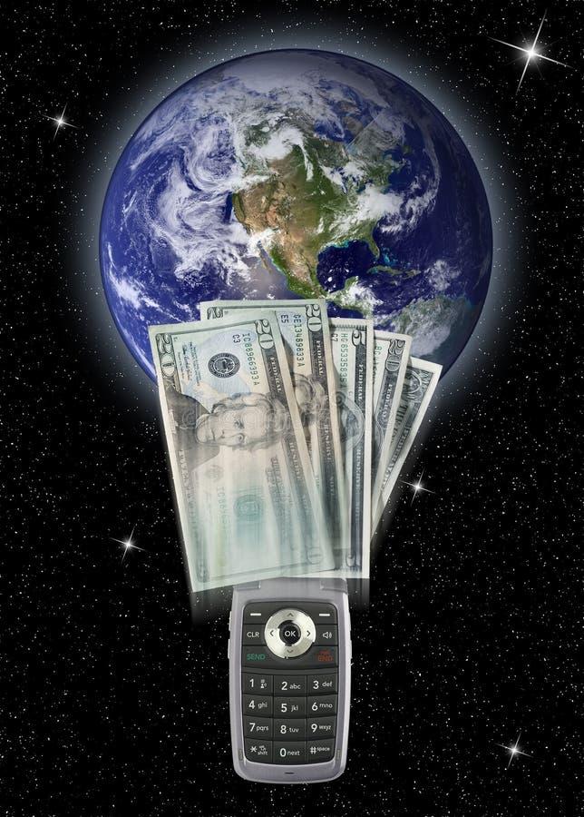 Download Cellphone money transfer stock illustration. Illustration of global - 9321074