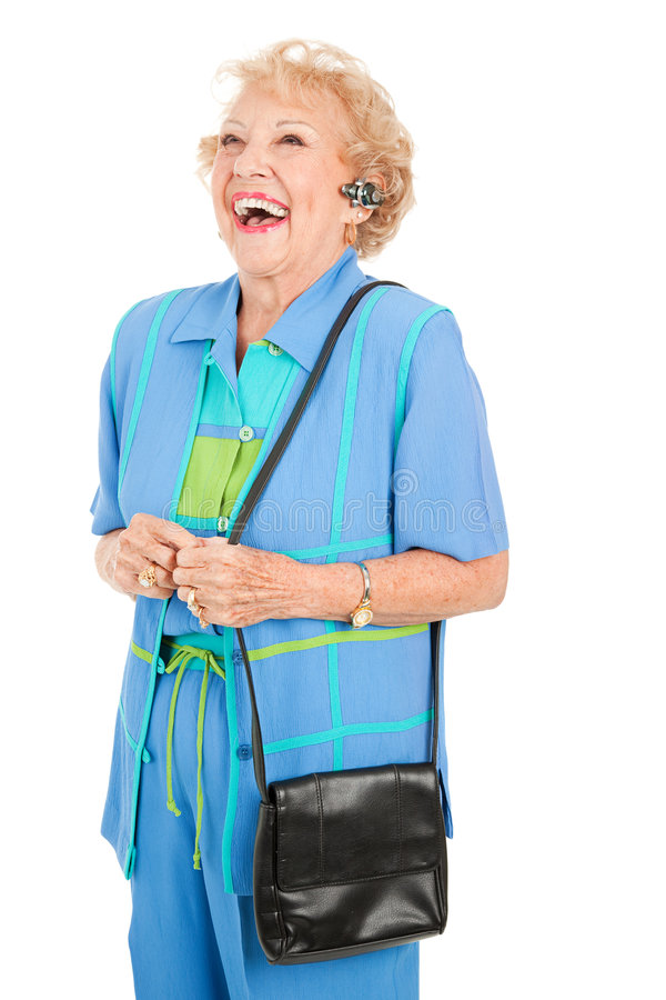Download Cellphone Senior Woman - Laughing Stock Photography - Image: 8540482