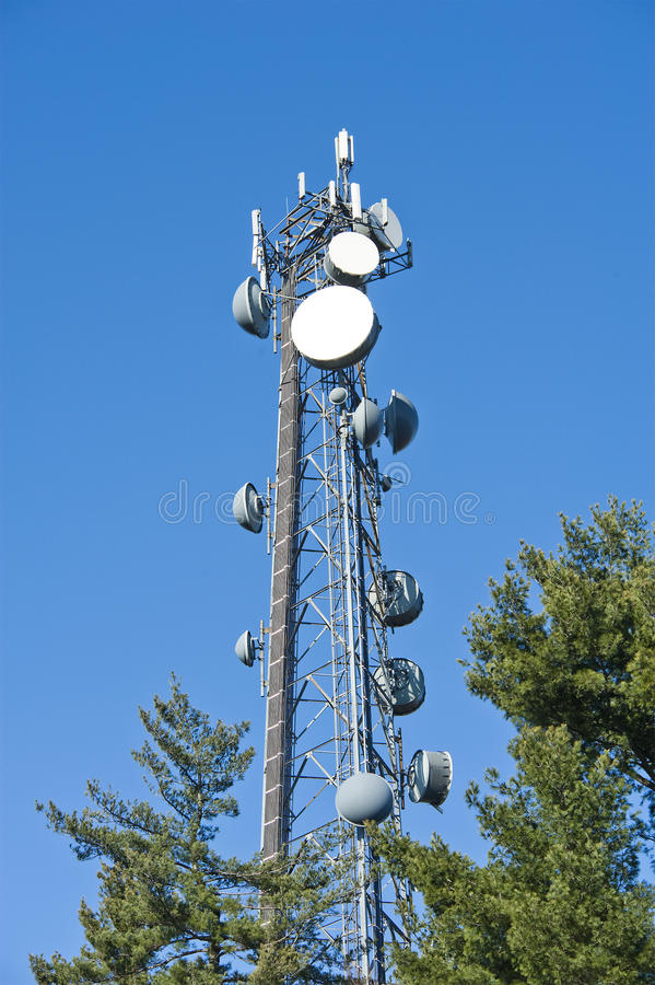 Cellphone tower stock photo