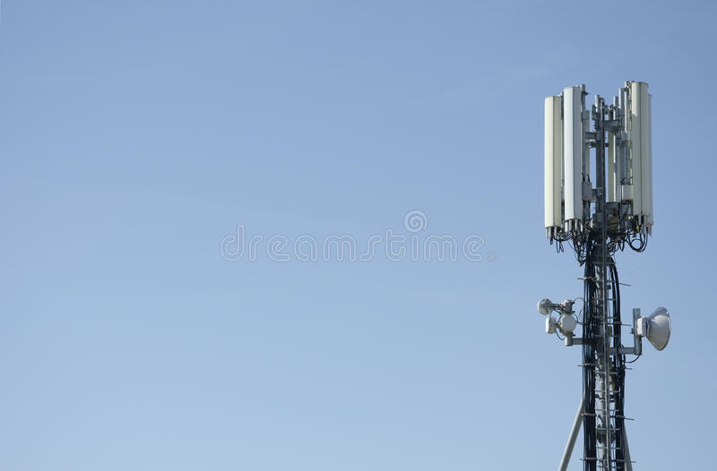 Cellphone tower antenna for mobile royalty free stock photography
