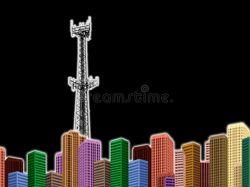 HIGH TECH INDUSTRY TECHNOLOGY CITYSCAPE BACKGROUND stock photos