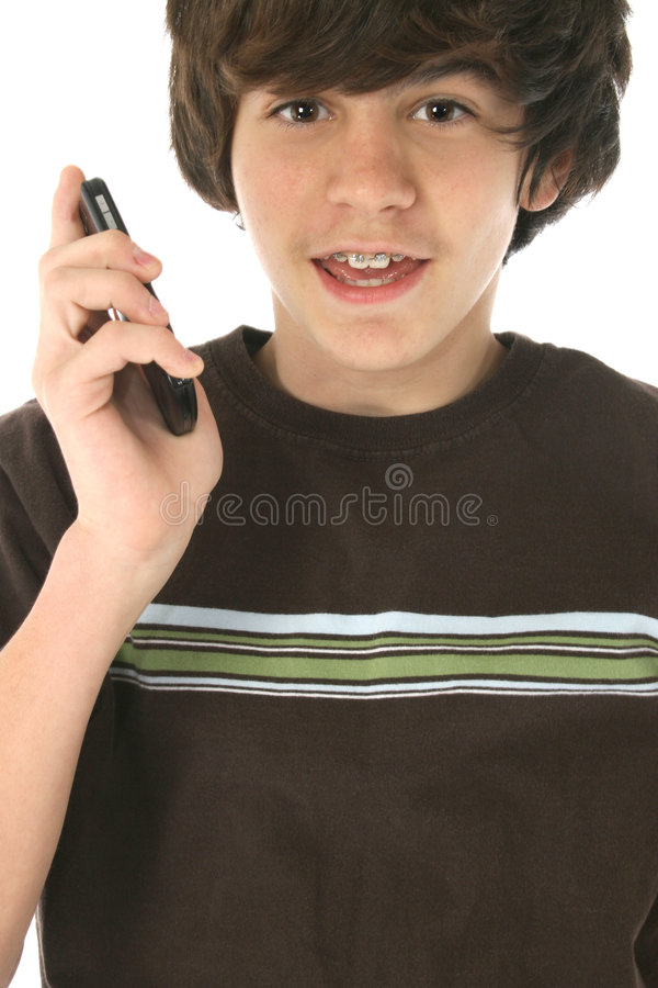 Cellphone Tween stock photos