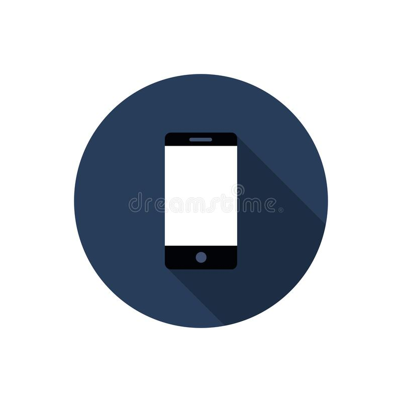 Cellphone vector icon. Vector color illustration royalty free illustration