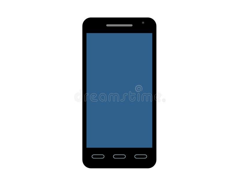 Cellphone vectorpictogram in vlakke stijl stock illustratie