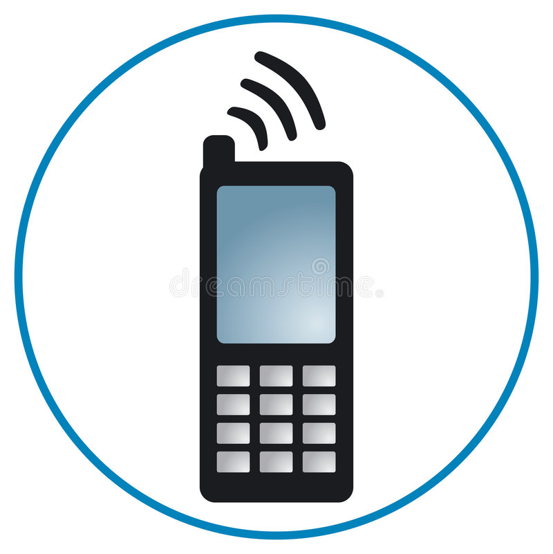 Cellphone01_2 royalty-vrije illustratie