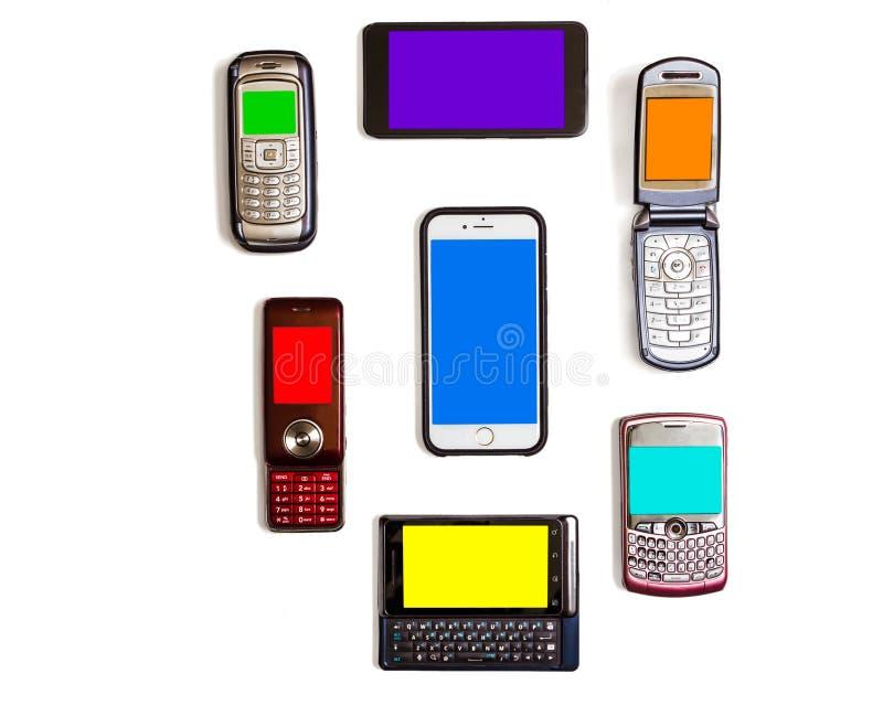 cellphones lizenzfreie stockfotos