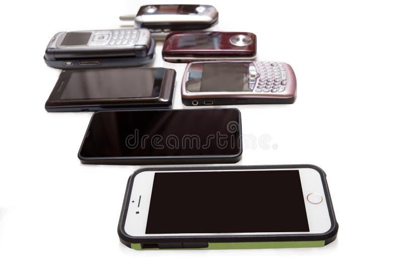 cellphones stockfoto