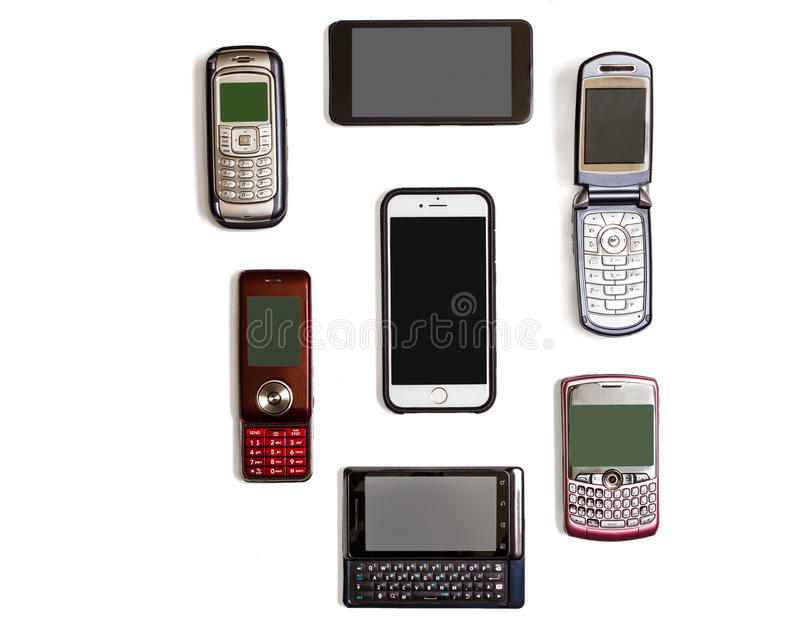 cellphones fotografie stock