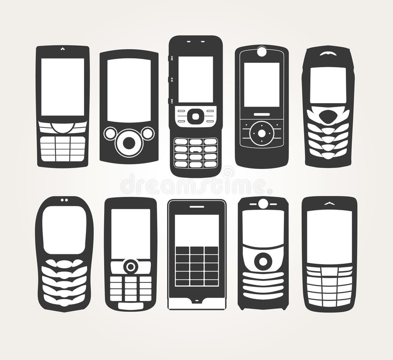 Free Cellphones Outline Royalty Free Stock Photo - 8060785