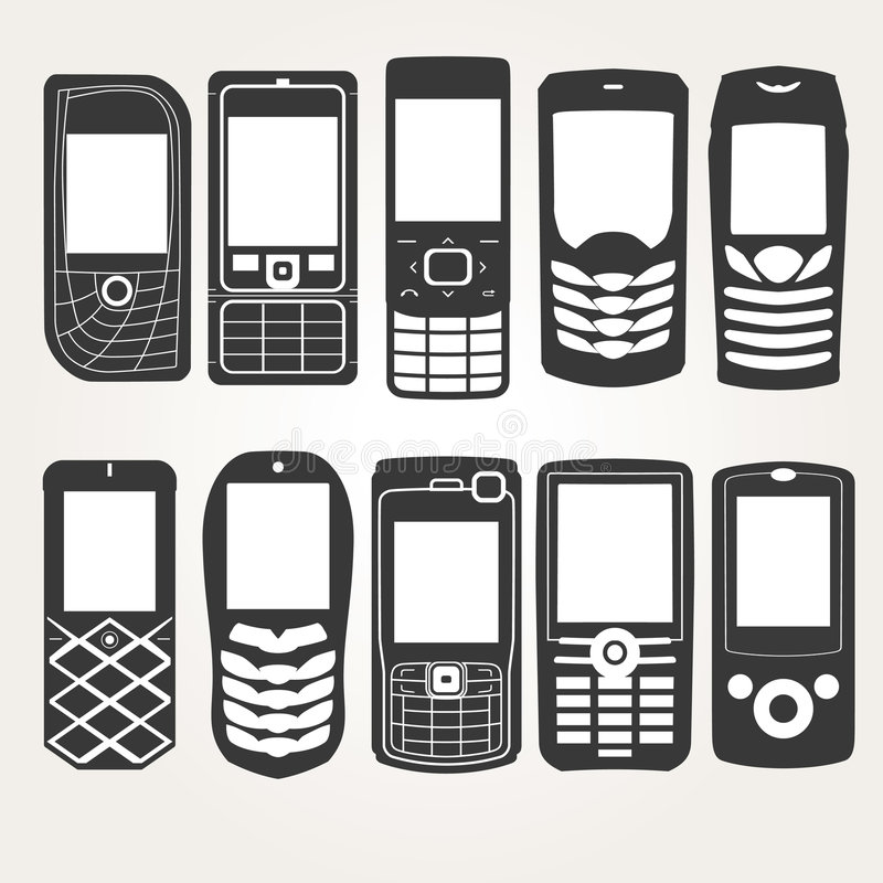 Free Cellphones Outline Royalty Free Stock Images - 8060789