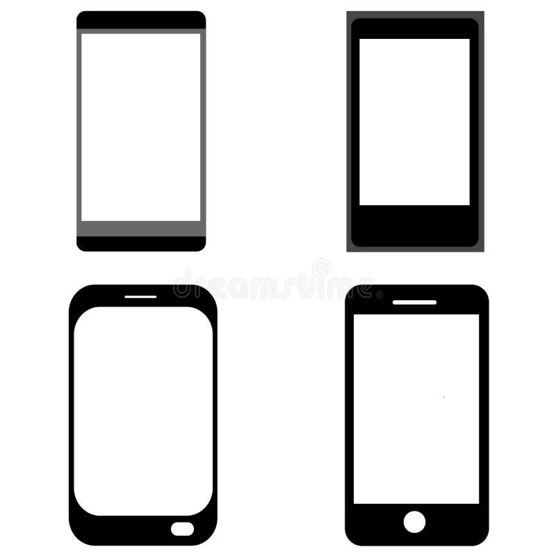 Cellphonesilhouet royalty-vrije illustratie