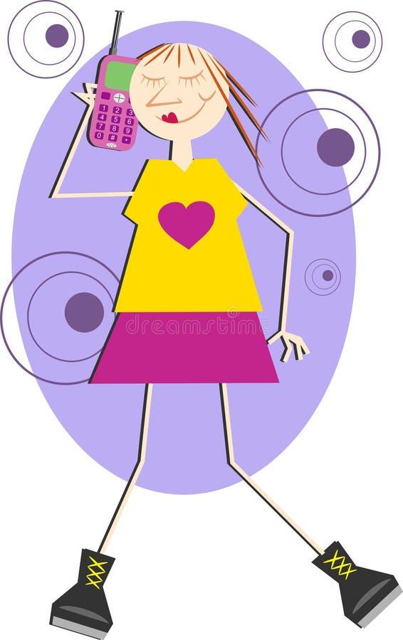 cellpratstundtelefon royaltyfri illustrationer