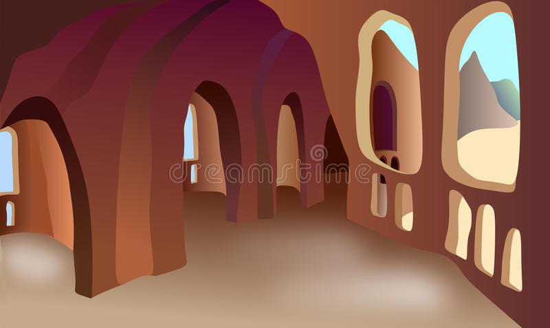Cells in the cave.  vector illustration