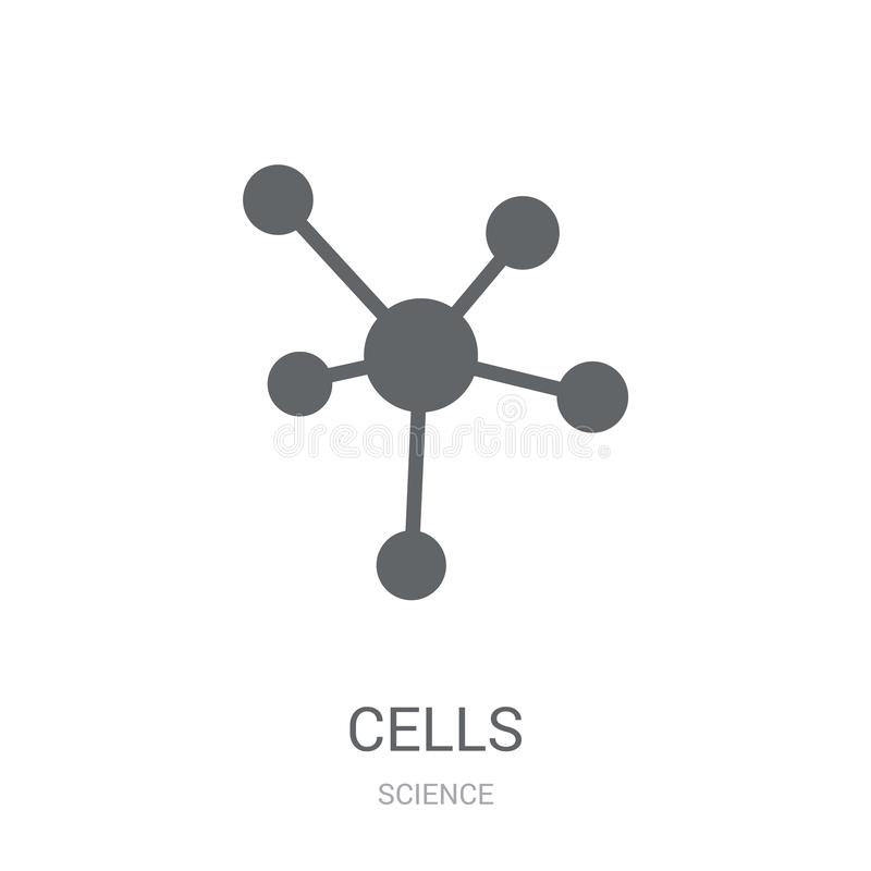 Cells icon. Trendy Cells logo concept on white background from S vector illustration