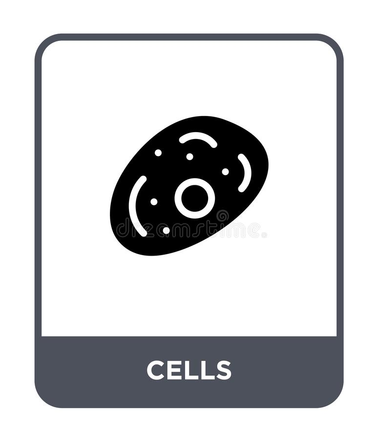 Cells icon in trendy design style. cells icon isolated on white background. cells vector icon simple and modern flat symbol for. Web site, mobile, logo, app, UI royalty free illustration