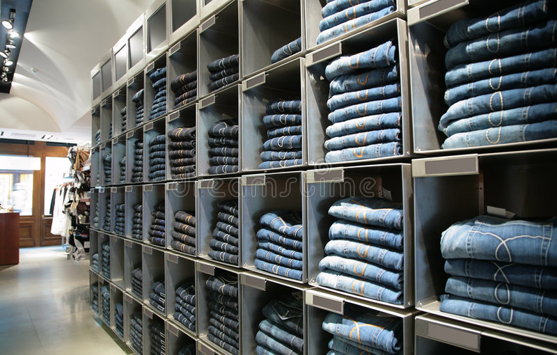 Download Cells With Jeans In Shop Stock Image - Image: 5832971