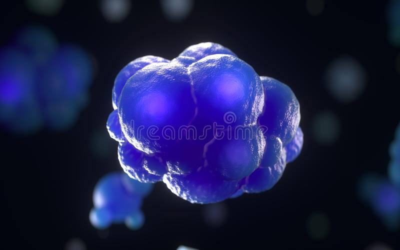 Cell division royalty free illustration