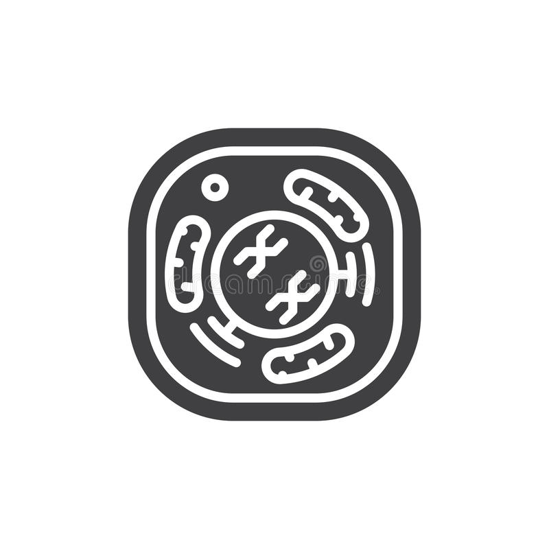 Cellsymbolsvektor, fyllt plant tecken, fast pictogram som isoleras på vit vektor illustrationer