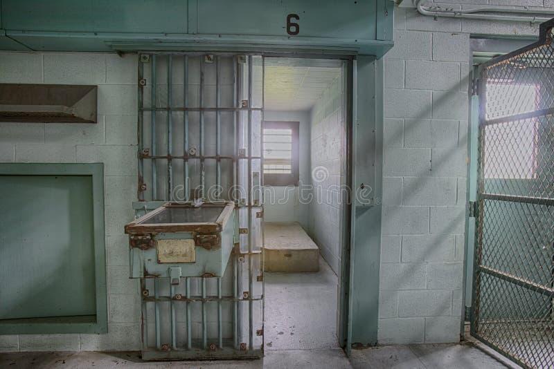 Cellula ad alto rischio di isolamento in cella in prigione fotografia stock