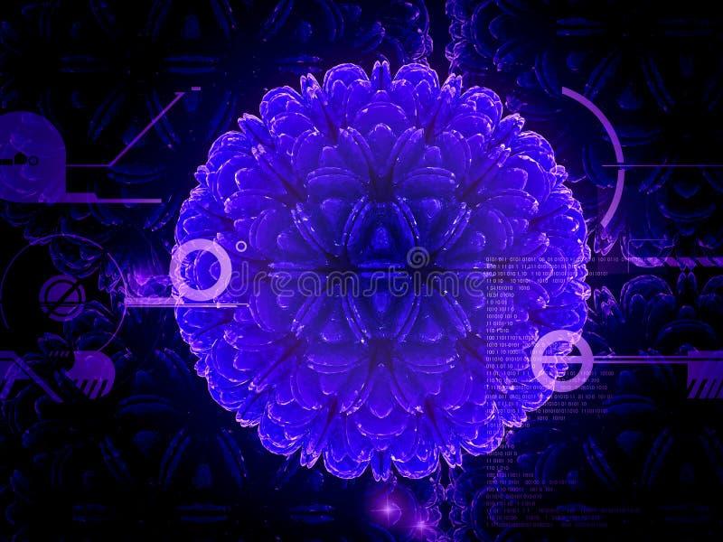 Cellula del virus illustrazione vettoriale