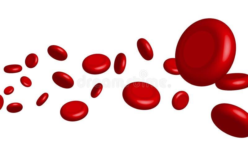 Cellula rossa sangue della vena di vettore Salute genetica medica di biologia Macro scienza della medicina illustrazione di stock