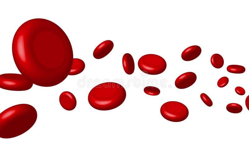 Cellula rossa sangue della vena di vettore Salute genetica medica di biologia Macro scienza della medicina illustrazione vettoriale
