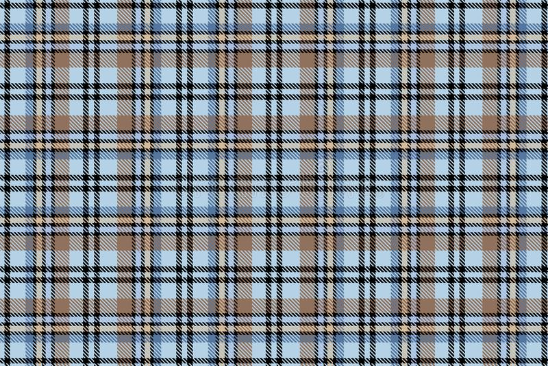 Cellula scozzese Modello senza cuciture della gabbia di vettore ripetere Priorità bassa per una scheda dell'invito o una congratu royalty illustrazione gratis