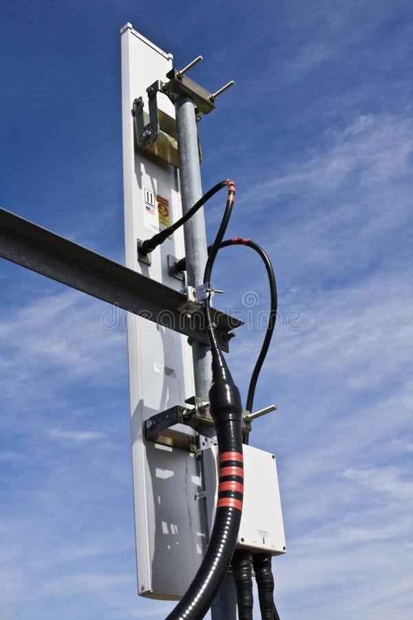 Cellulaire antenne - achtermening stock foto's