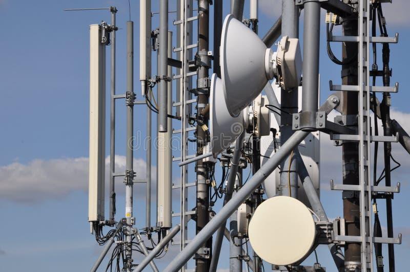Cellulaire en wifi communicatie systeem stock foto