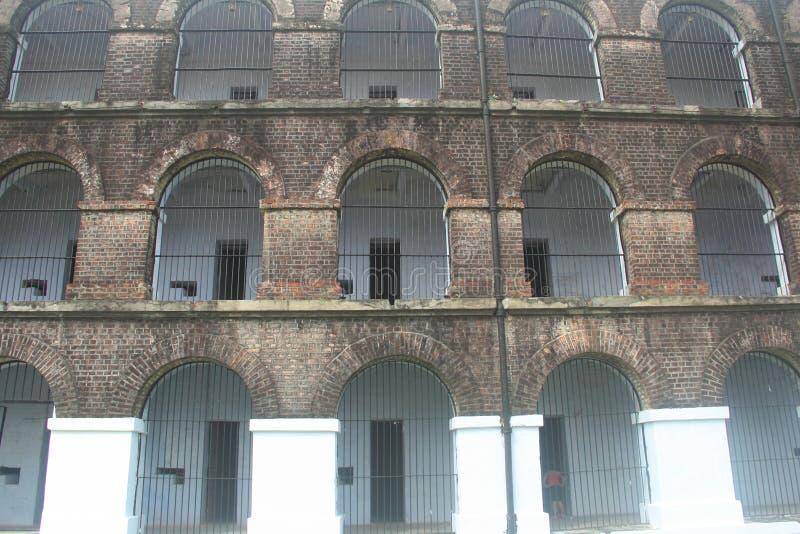 Cellulaire gevangenis stock afbeeldingen