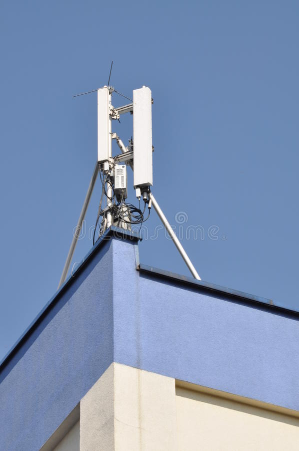 Cellular communication aerial stock image