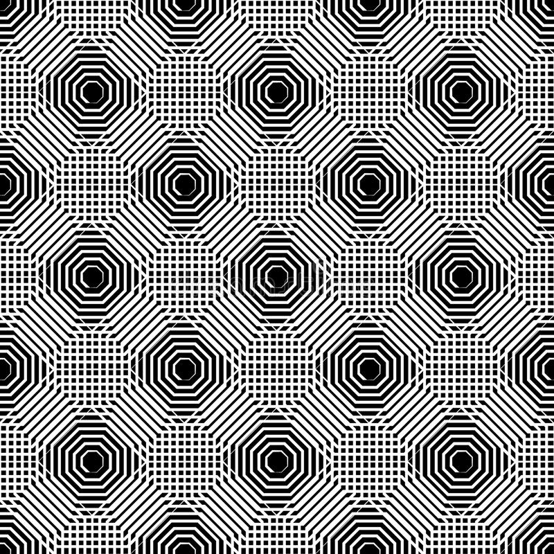 Cellular geometric pattern, seamlessly repeatable. Abstract mono. Chrome background. - Royalty free vector illustration royalty free illustration
