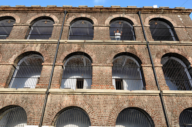 Cellular Jail stock photography