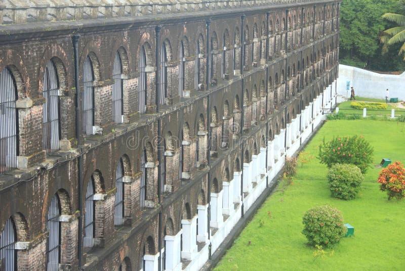 Cellular jail. stock photos