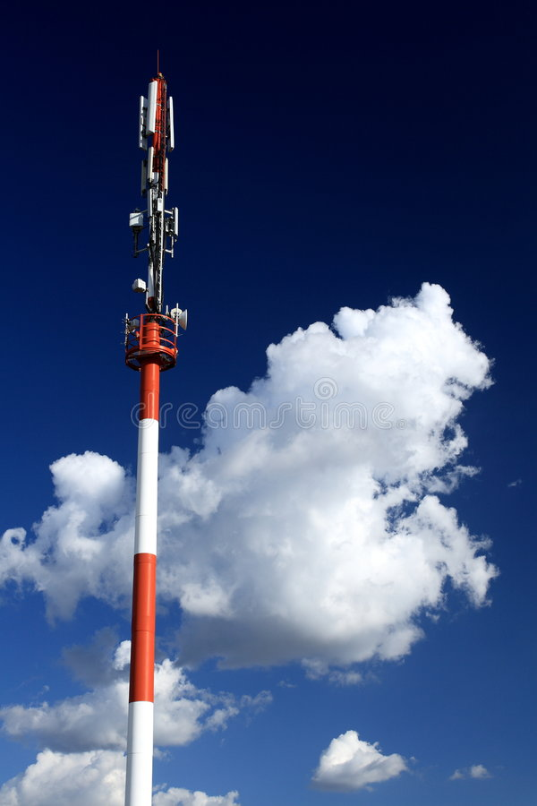 Cellular Microwave Tower Stock Photo