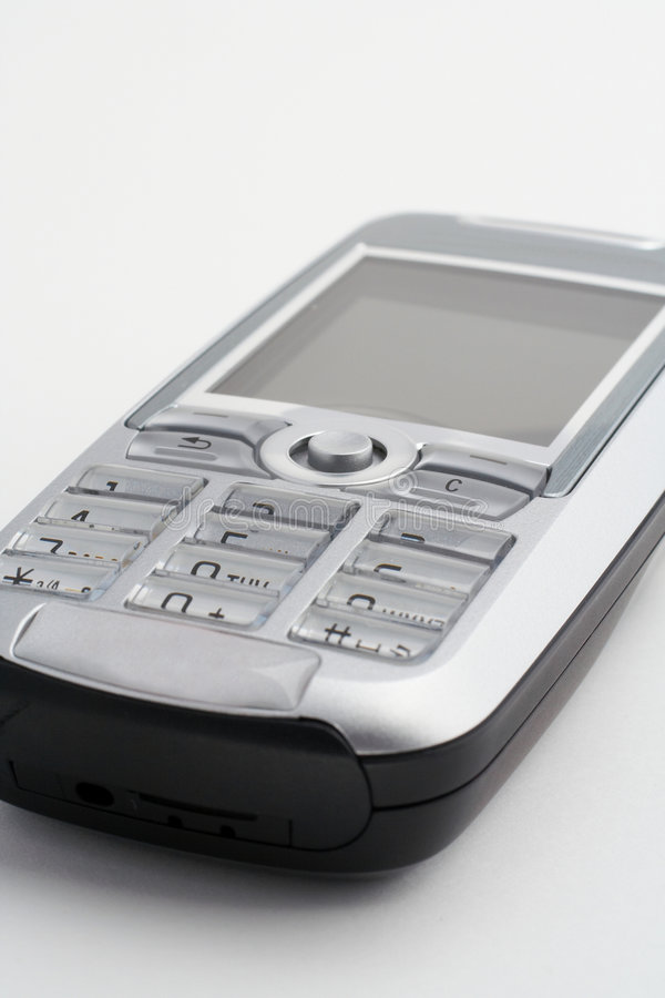 Cellular mobile phone. Closeup royalty free stock photo