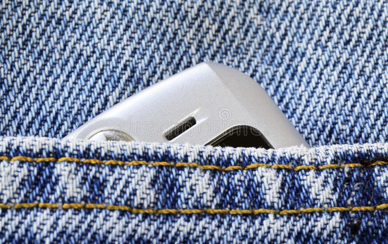 Download Cellular Phone In The Jeans Pocket Stock Photo - Image: 32426142