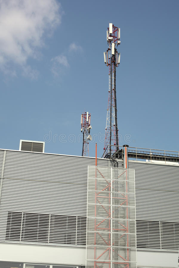 Download Cellular phone towers stock image. Image of laborer, tall - 18542139