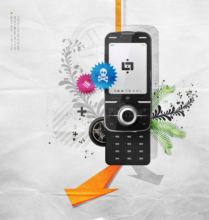 Download Cellular telephone stock illustration. Illustration of touch - 9932551