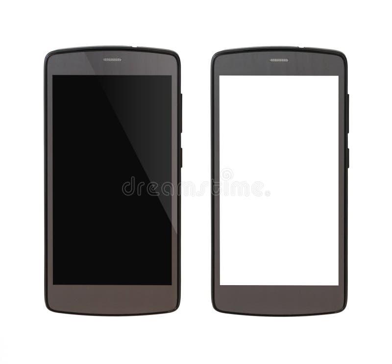 Cellulare grigio isolato su fondo bianco fotografia stock libera da diritti