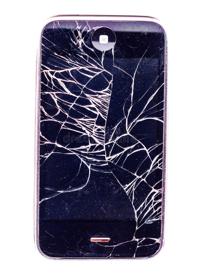 Cellulare, iphone distrutto immagine stock libera da diritti