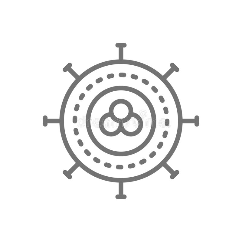 Cellule cancéreuse, virus, infection, ligne icône d'oncologie illustration de vecteur